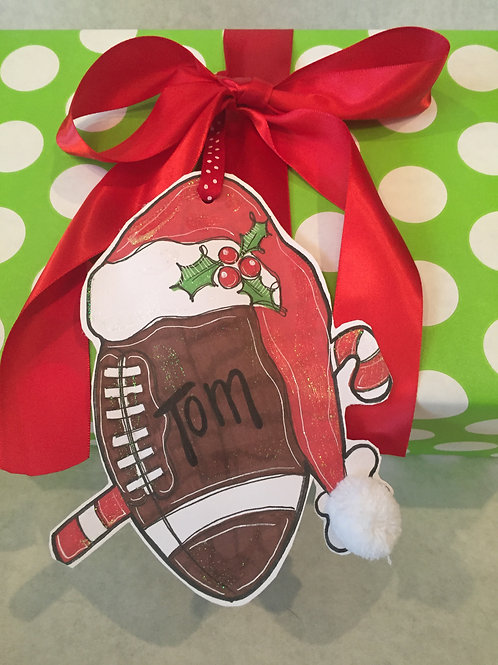 Football ornament/Package Tag