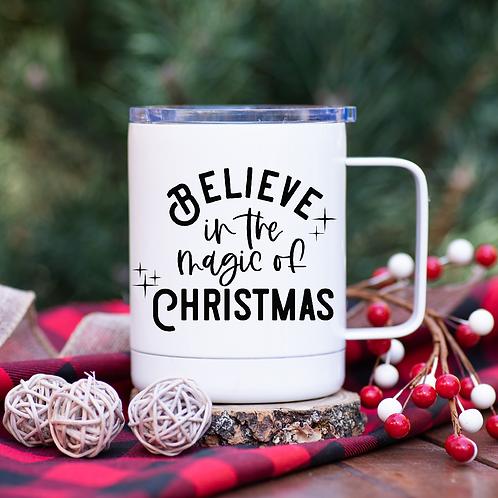 Believe in the magic of Christmas travel mug