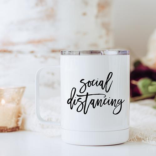 Social distancing travel mug