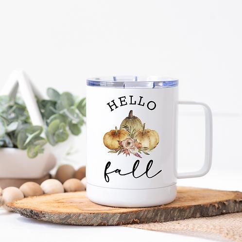 Hello fall travel mug