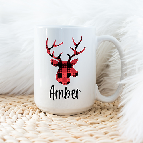 Personalized reindeer mug