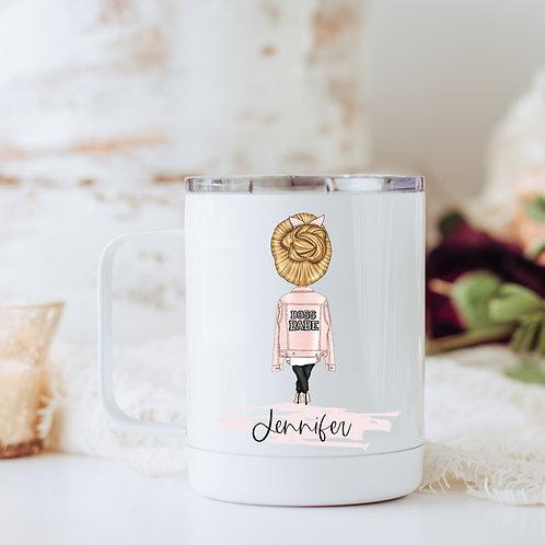 Personalized boss babe travel mug