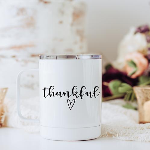 Thankful travel mug