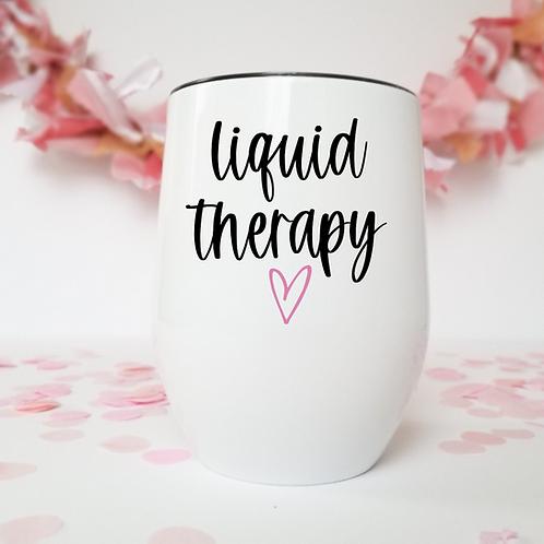 Liquid therapy wine tumbler