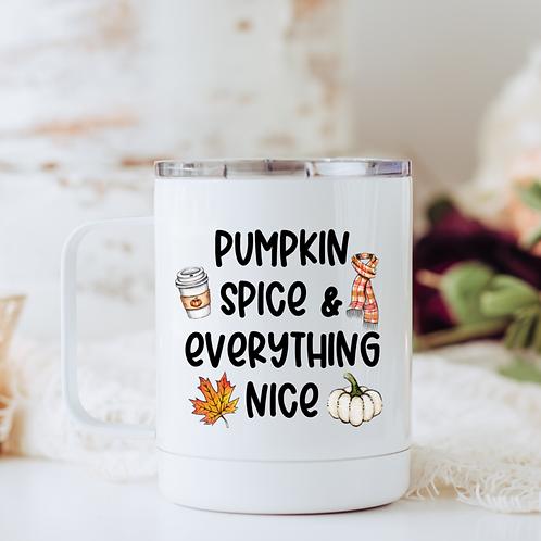 Pumpkin spice & everything nice travel mug