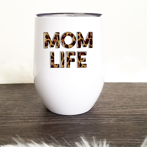 Mom life wine tumbler