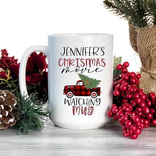 Personalized Christmas movie mug