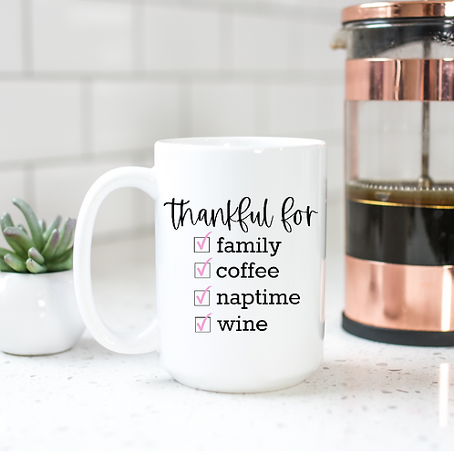 Thankful for family, coffee...