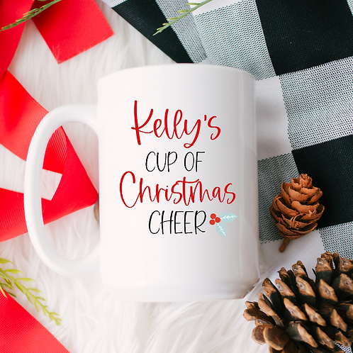 Personalized Christmas cheer mug