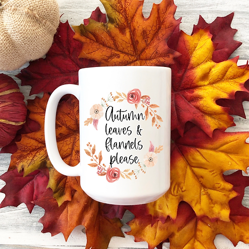 Autumn leaves and flannels please