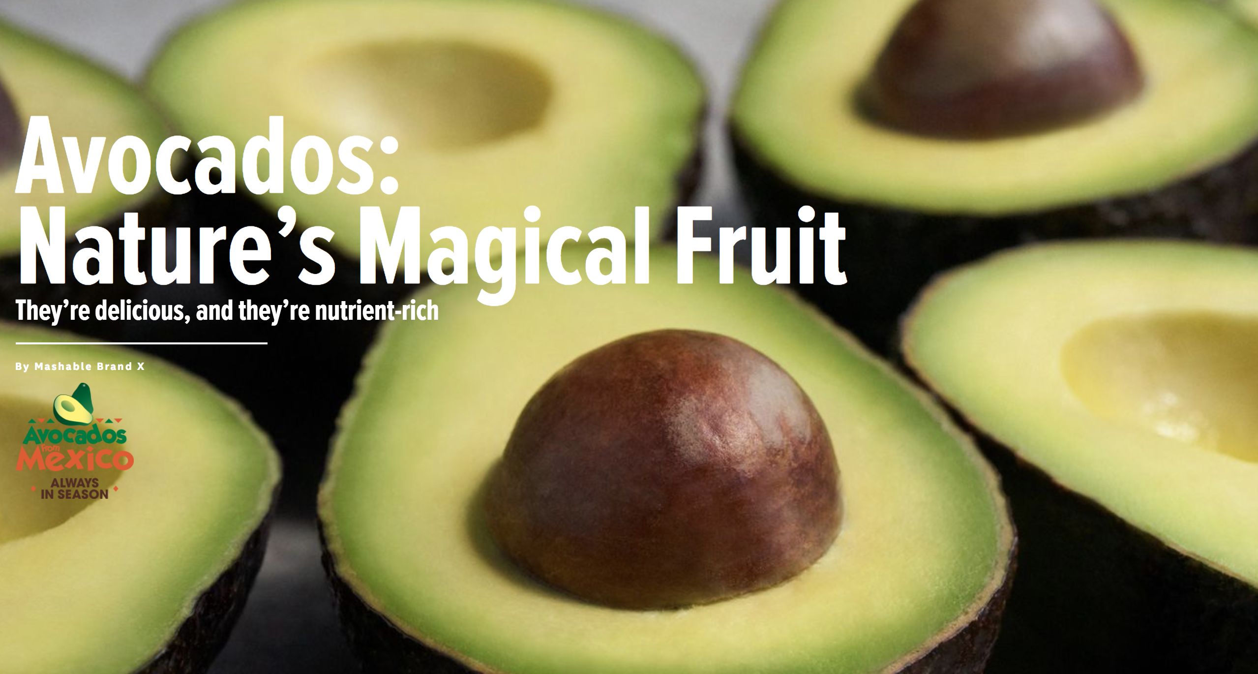 Avocados from Mexico x Mashable