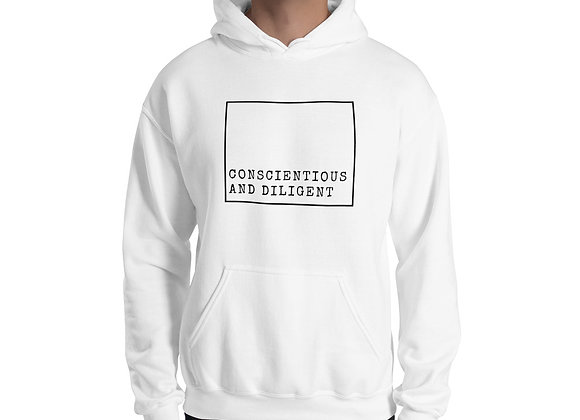 Conscientious and Diligent Unisex Hoodie