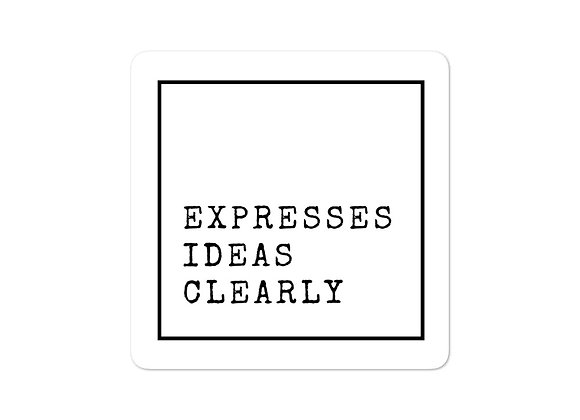 Expresses Ideas stickers