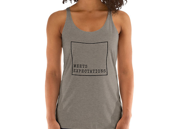 Meets Expectations Women's Racerback Tank