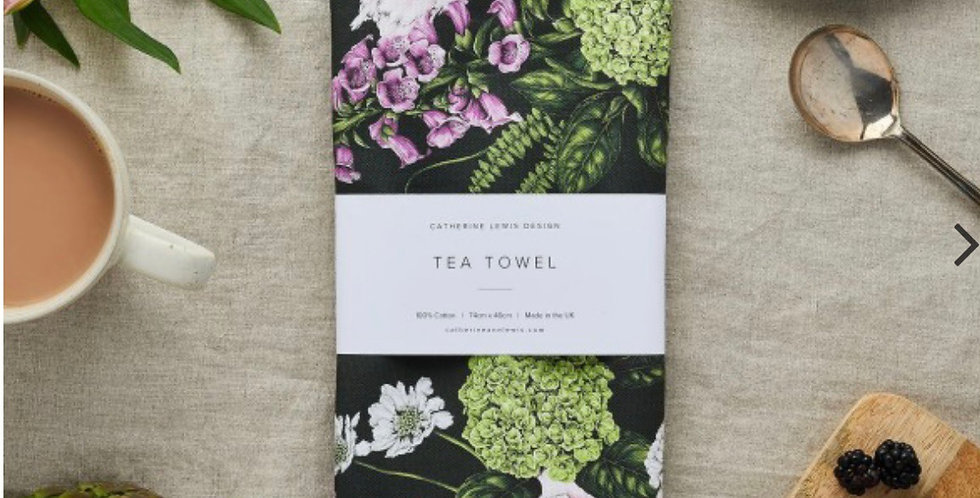 Catherine Lewis design 100% cotton tea towel