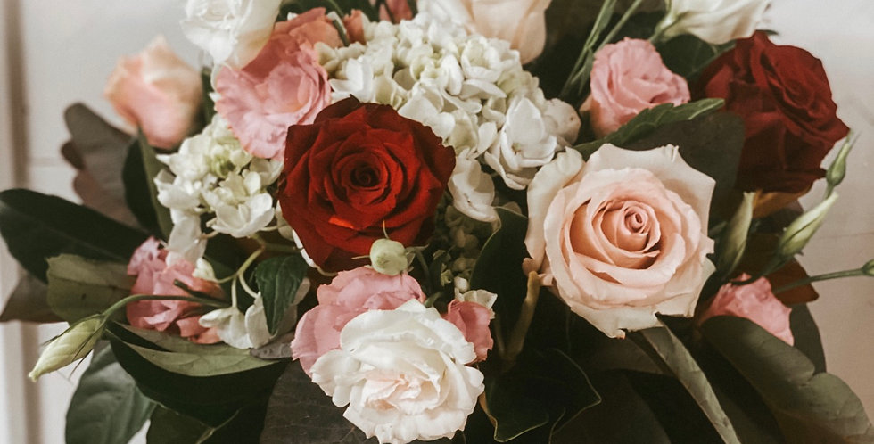 In the name of love vase arrangement