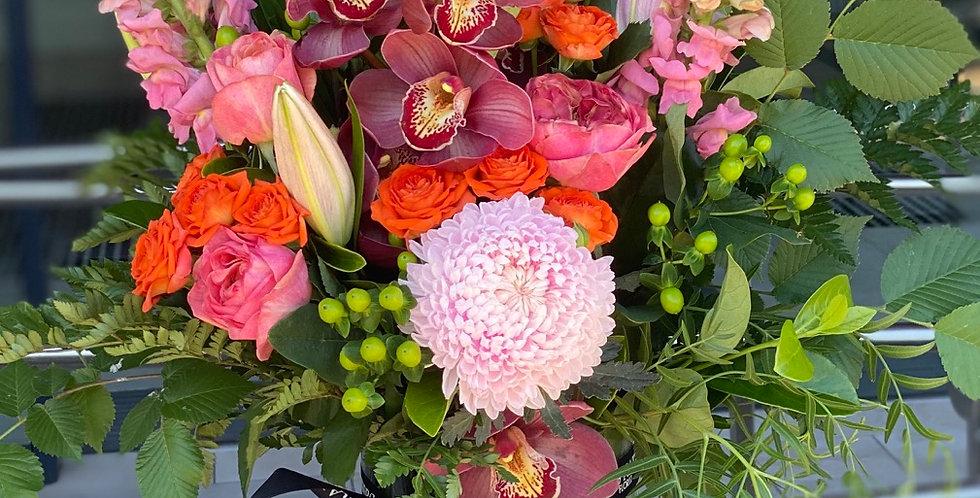Large bright vase arrangement