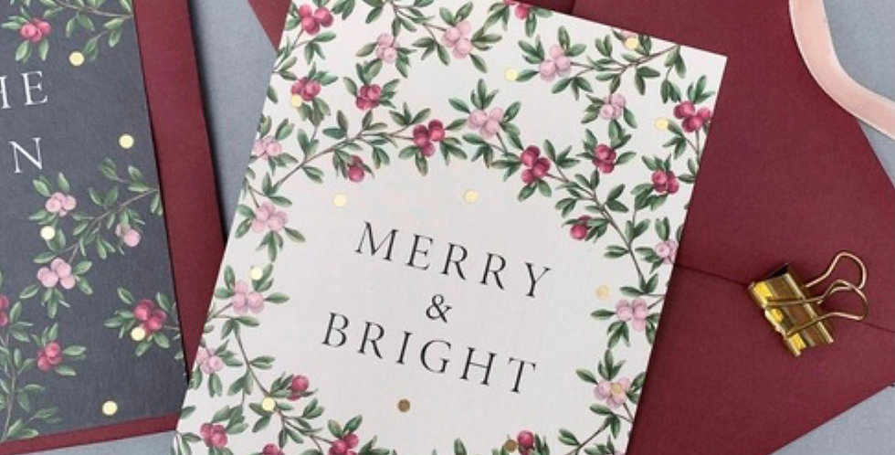 Merry and bright quality card