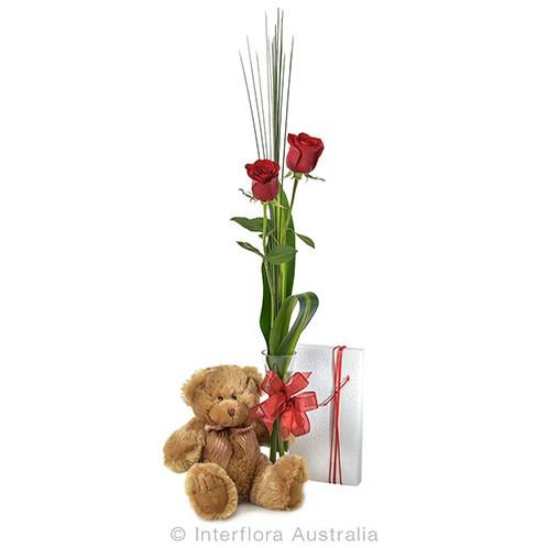Rose In Vase Gift Pack