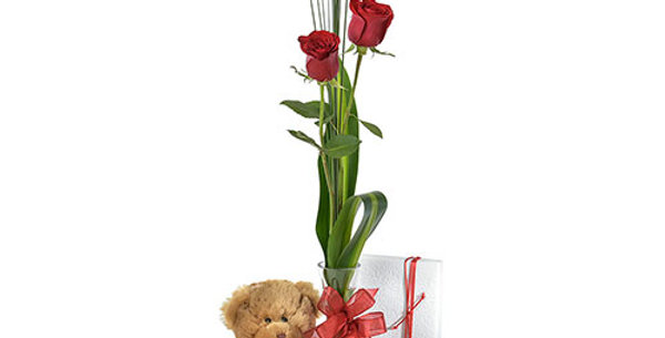 Rose In vase Gift Pack