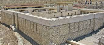 A reconstruction of the Second Temple, the temple at the time of Jesus Christ.