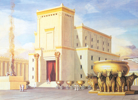 An illustration of Solomon's Temple that was built by King Solomon in the 10th century BCE.