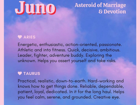 Juno: asteroid that governs  partnership