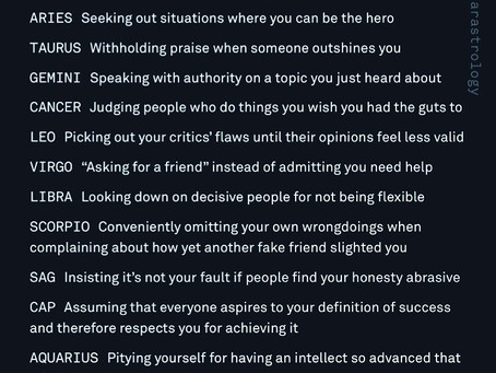 How the signs protect their ego?