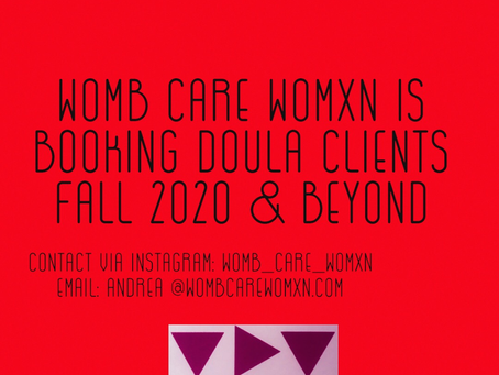 Booking new powerful virtual Doula clients!