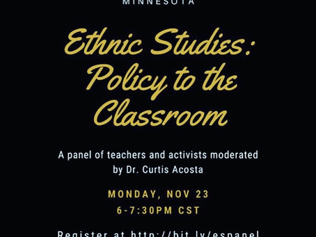 Conversation exploring the current movements of Ethnic Studies
