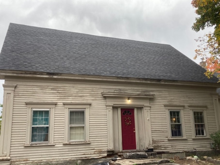 Historical farmhouse finally gets a new lid