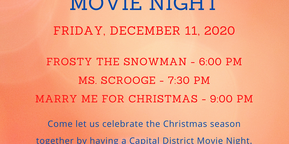 Capital District Movie Night - Friday, December 11th