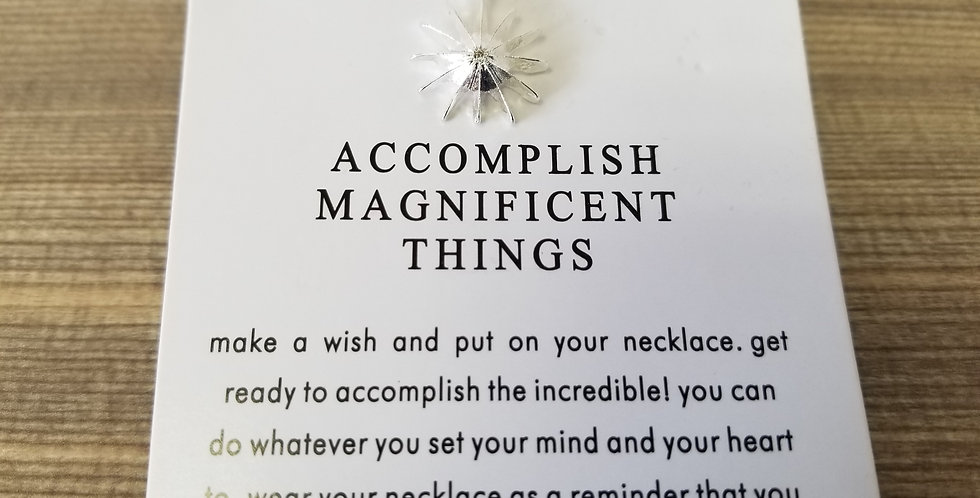 High Vibes Necklace - Accomplish Magnificent Things