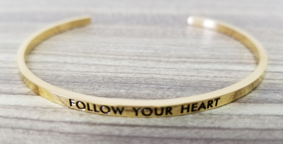 State-Trigger Bangle - Follow Your Heart