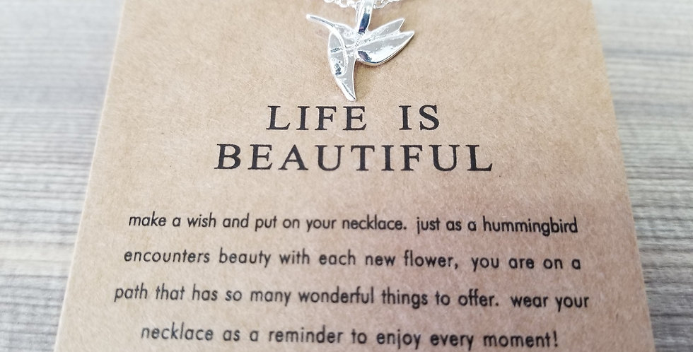 High Vibes Necklace - Life is Beautiful