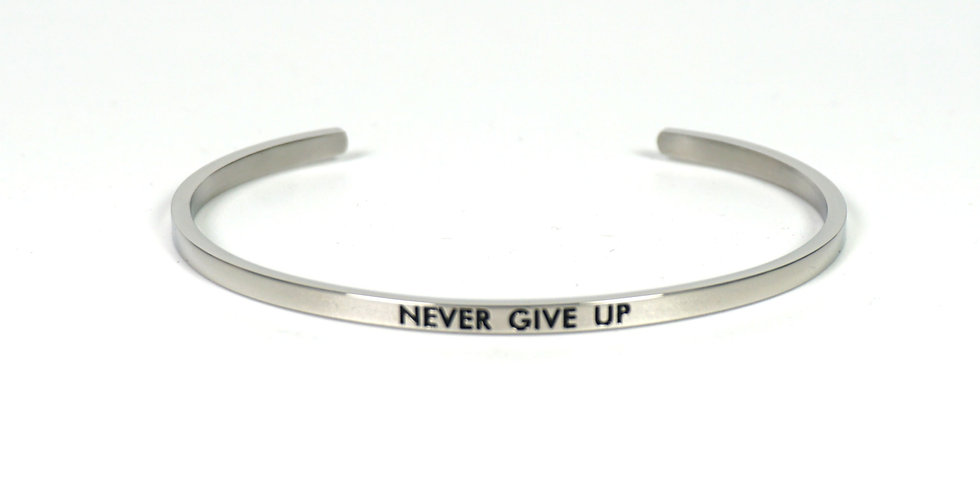 State-Trigger Bangle - Never Give Up