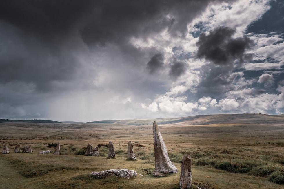 _AR35768 Stormy skies over Scorhill stone circle