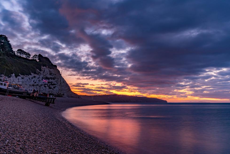 AR32998 Dawn colours on Beer Beach