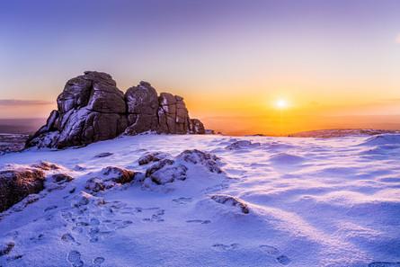 Winter sunrise at Haytor