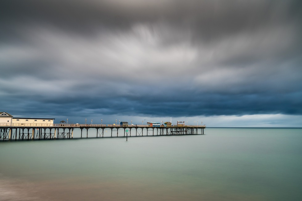 AR32810 Moody day at Teignmouth Pier
