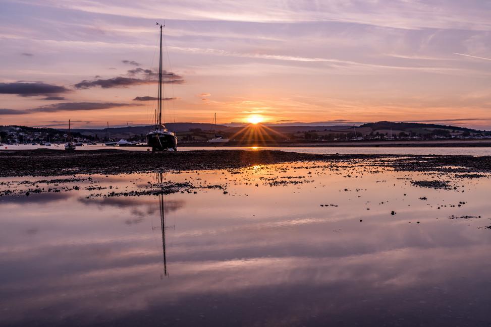 AR32736 Sunset on the Exe
