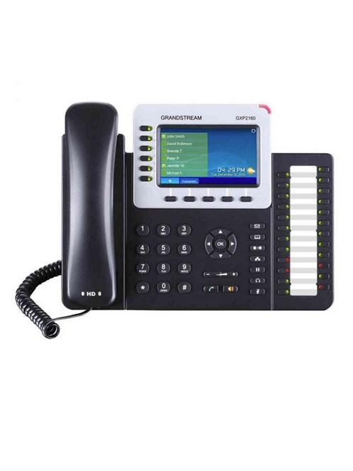 Teléfono IP Empresarial de 6 Líneas con Pantalla a Color y Audio HD, PoE