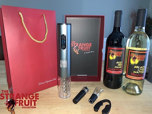 The Strange Fruit Collection Electric Wine Opener Kit