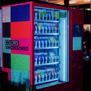 Make Over Cosmetics Vending Machine