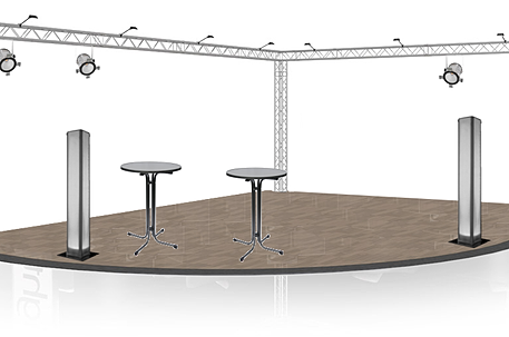 Salon exposition foire inauguration stand d co structure for Structure stand salon