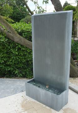 Fontaine Zinc mur d'eau