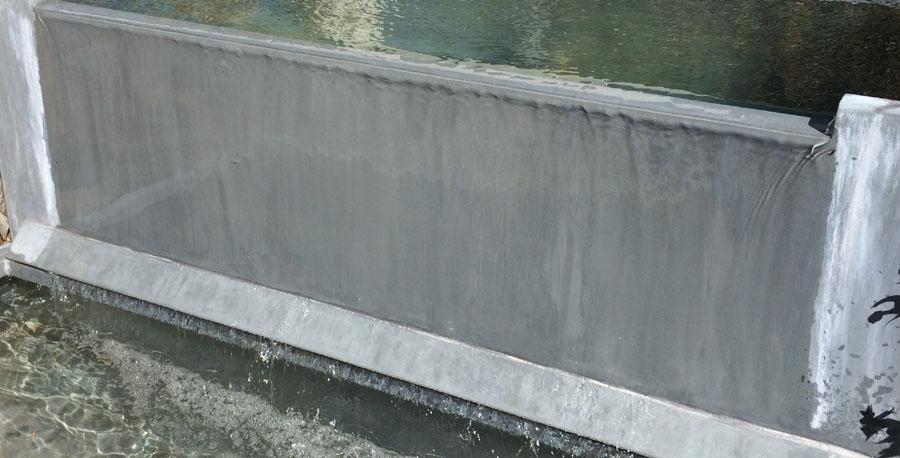 Fontaine Bassin zinc à débordement