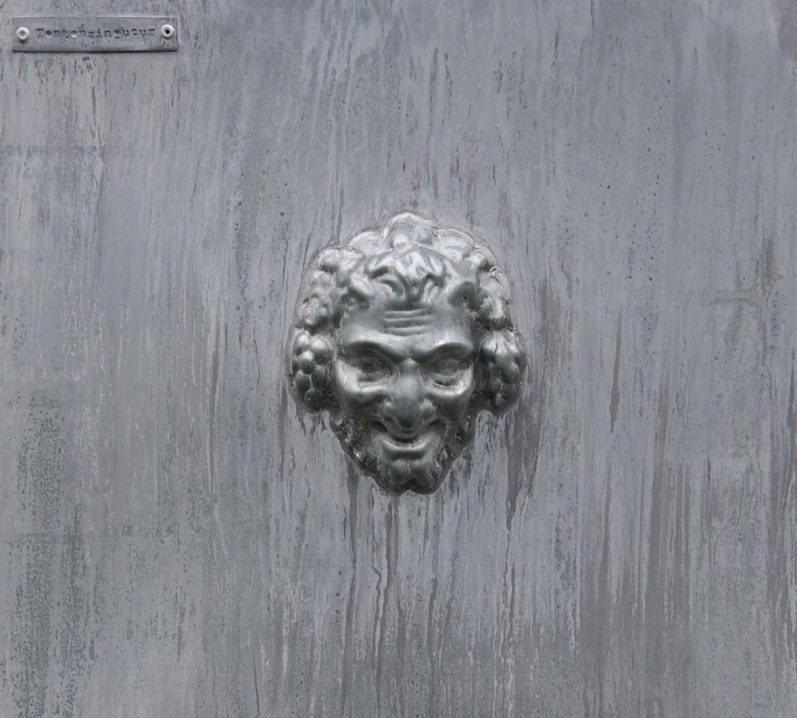Décor'Tête de Bacchus' en zinc