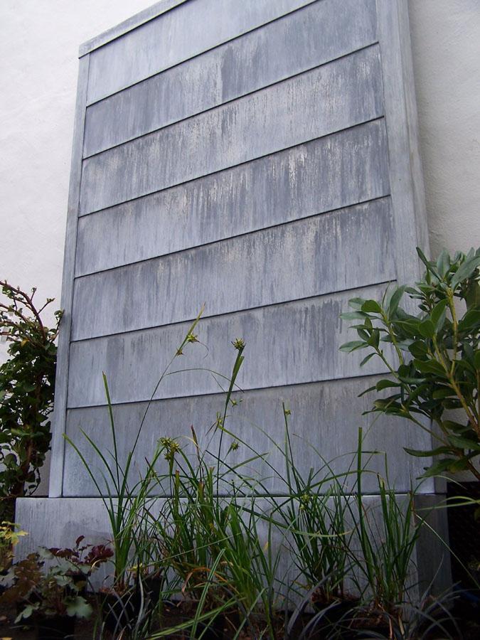 Mur d'eau à lamelles Zinc