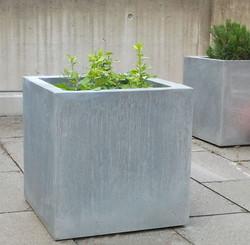 Jardinière zinc - titan